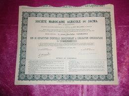 MAROCAINE AGRICOLE DU JACMA (casablanca-maroc) - Actions & Titres