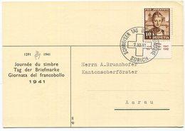 1939 - 1941 Tag Der Briefmarke Sonderkarte - Pro Juventute