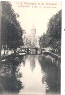 ***  AMSTERDAM  ***  Voorburgwal En St Nicol Kerk  Unused TTB - Amsterdam