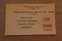 Bulletin Referendum Du 5 Mai 1948 (Constitution Adoptée Par L'Assemblée Nationale) - Documenti Storici