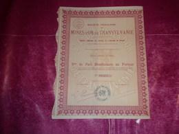 MINES D'OR DE TRANSYLVANIE (1930) - Actions & Titres
