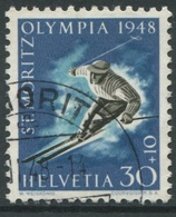 1940 - 30 Rp. Olympiade St. Moritz 1948 - 2. Auflage Mit Seltenem Papier - Oblitérés