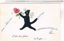 17 ROYAN 1965  C EST UNE FLEUR CHAT NOIR PONI - Royan