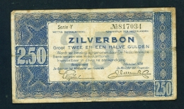 NETHERLANDS  -  1938  2.50 Gulden  Circulated Banknote As Scans - [2] 1815-… : Kingdom Of The Netherlands
