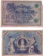 BANCONOTA DA 100 MARCHI - GERMANIA - 1908 - [ 2] 1871-1918 : Impero Tedesco