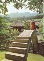 """CP Corée Du Sud - Pusan, Tong Do Temple  - Buddhist Monk Crosse Aver """"heaven Bridge"""" - Corea Del Sud"""