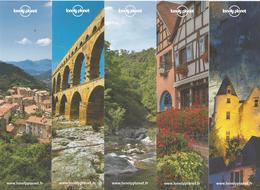 Lot De 10 Marque-pages Différents Guides Lonely Planet France - Bookmarks