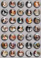 Romy Schneider As Sissi Movie Film Fan ART BADGE BUTTON PIN SET 2 (1inch/25mm Diameter) 35 DIFF - Films