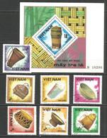 Vietnam 1987, Used Stamps Set+block - Viêt-Nam