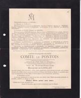 LORIENT Le ROEULX Louis Comte Le PONTOIS Veuf De LONLAY 1839-1912 Médaille De La Baltique Et De Sébastopol Château - Décès