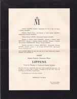GAND Jeanne LIPPENS Veuve SALMON 1879-1953 Bruxelles Famille BERVOETS - Décès