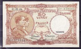 BELGIQUE MORIN N° 28, 01.09.1948 UNC, 4 Exemplaires (BB6A) - [ 6] Treasury