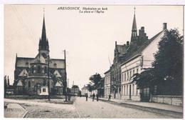 Arendonck - Marktplein En Kerk 1925  (Geanimeerd) - Arendonk