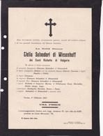 TORINO Clelia Salvadori Di WIESENHOFF Dei Conti RICHETTA Di VALGORIA 1927 - Décès