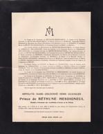 MACON Hippolyte Prince De BETHUNE-HESDIGNEUL Membre Académie D'ARRAS 1848-1931 Château De GRENEVILLERS OISE - Décès