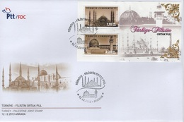 Turquie - Turkey (2013) - FDC -   / Joint Issue With Palestine - Heritage - Architecture - Gezamelijke Uitgaven