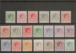 BAHAMAS 1938 - 1952 SET INCLUDING ADDITIONAL CATALOGUE LISTED COLOUR VARIETIES SG 149/157a UM/MM - Bahamas (...-1973)