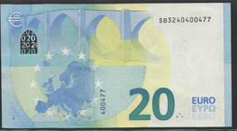 "€ 20  ITALIA S010  Ch. ""24""  DRAGHI  CIRCULATED - EURO"