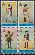 Turks Et Caiques N° 339 / 42 XX  Uniformes Militaires, La Série Des 4 Valeurs Sans Charnière, TB - Turks And Caicos