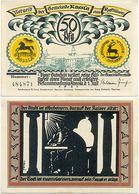 Rossla Kyffhäuser, 1 Schein Notgeld 1921, Scherenschnitt Barbarossa, 50 Pfennig - [11] Local Banknote Issues