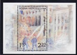 2002, Bosnien-Herzegowina, 263 Block 15, Berufsfeuerwehr Sarajevo.  MNH ** - Bosnie-Herzegovine