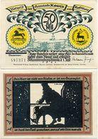 Rossla Kyffhäuser, 1 Schein Notgeld 1921, Scherenschnitt Barbarossa 50 Pfennig - [11] Local Banknote Issues