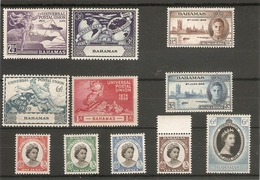 BAHAMAS 1946 - 1959 UNMOUNTED MINT SETS - 1859-1963 Colonia Británica