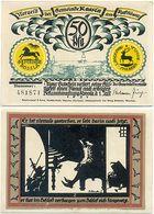 Rossla Kyffhäuser, 1 Schein Notgeld 1921, Scherenschnitt Barbarossa 50 Pfennig, - [11] Local Banknote Issues