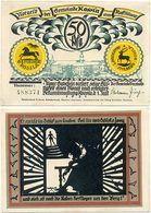 Rossla Kyffhäuser, 1 Schein Notgeld 1921 Scherenschnitt Barbarossa 50 Pfennig - [11] Local Banknote Issues