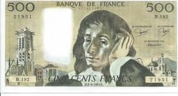 REF 803-2018 BILLET 500F 2-6-1983 - 1962-1997 ''Francs''