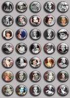 Romy Schneider Movie Film Fan ART BADGE BUTTON PIN SET 1 (1inch/25mm Diameter) 35 DIFF - Films