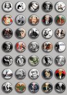Johnny Hallyday Music Fan ART BADGE BUTTON PIN SET 1 (1inch/25mm Diameter) 35 DIFF - Music