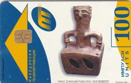 Macedonia, MK-MAT-0011 , 100 Units,  Mother Of God, Statue, 2 Scans - Macedonia