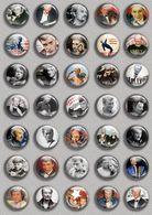 Johnny Hallyday Music Fan ART BADGE BUTTON PIN SET 3 (1inch/25mm Diameter) 35 DIFF - Music