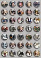 Johnny Hallyday Music Fan ART BADGE BUTTON PIN SET 6 (1inch/25mm Diameter) 35 DIFF - Music