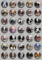 Johnny Hallyday Music Fan ART BADGE BUTTON PIN SET (1inch/25mm Diameter) 35 DIFF 8 - Music