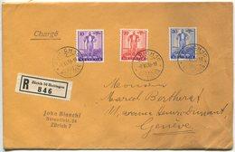 1949 - 1936 Wehranleihe Einschreibe-Satzbrief - Briefe U. Dokumente