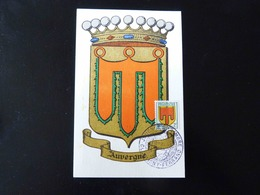 CARTE MAXIMUM    BLASON DE L'AUVERGNE - 1940-49