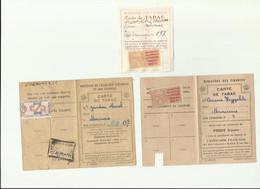 Carte Tabac Fiscal Entr'aide Française 1943 - 1945 (cote = 380€) - Fiscaux