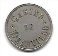Ancien Jeton Métal  Casino De Deauville (Calvados 14) (ficha) - Casino