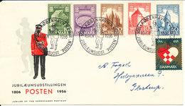 Denmark Cover Stamp Exhibition POSTEN Copenhagen 16-11-1956 With Very Nice Cachet And A Christmas Seal - Briefmarkenausstellungen