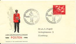 Denmark Cover Stamp Exhibition POSTEN Copenhagen 15-11-1956 With Very Nice Cachet - Philatelic Exhibitions