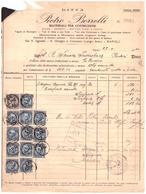 Portici. 1940. Fattura Commerciale PIETRO BORRELLI,  Con Marche Da Bollo Scambi Commerciali L. 2 + C. 5 X 12 - Italia