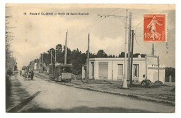 COA écrite 1911, Route D'El Biar, Tramway à L'arrêt De St Raphael - Algerien