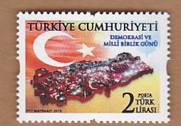 AC - TURKEY STAMP - DEMOCRACY AND NATIONAL SOLIDARITY DAY  MNH 15 JULY 2018 - Unused Stamps