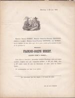 HAVELANGE BORSU François HUBERT 67 Ans 1856 Ancien Curé De BORSU Famille GENNOTTE - Avvisi Di Necrologio