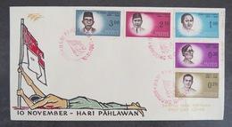 INDONESIE 1961 :  FDC 10 November - Hari Pahlawan - Sampul Hari Pertama - First Day Cover Indonesia - Indonésie