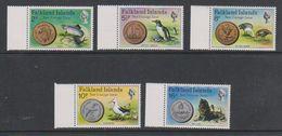 Falkland Islands 1975 New Coinage 5v (+margin) ** Mnh (39515H) - Falklandeilanden