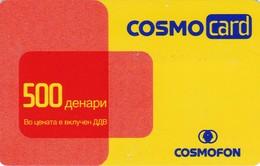 Macedonia, MK-COS-REF-0001, Cosmocard Red/Yellow, 2 Scans.  20/07/2005 - Macedonia