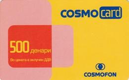 Macedonia, MK-COS-REF-0001, Cosmocard Red/Yellow, 2 Scans.  11/04/2007 - Macedonia